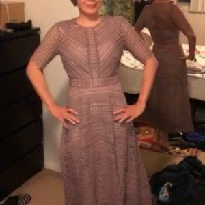 d1390df10f ASOS Dresses | Premium Occasion Lace Midi Dress In Mink Nwot | Poshmark